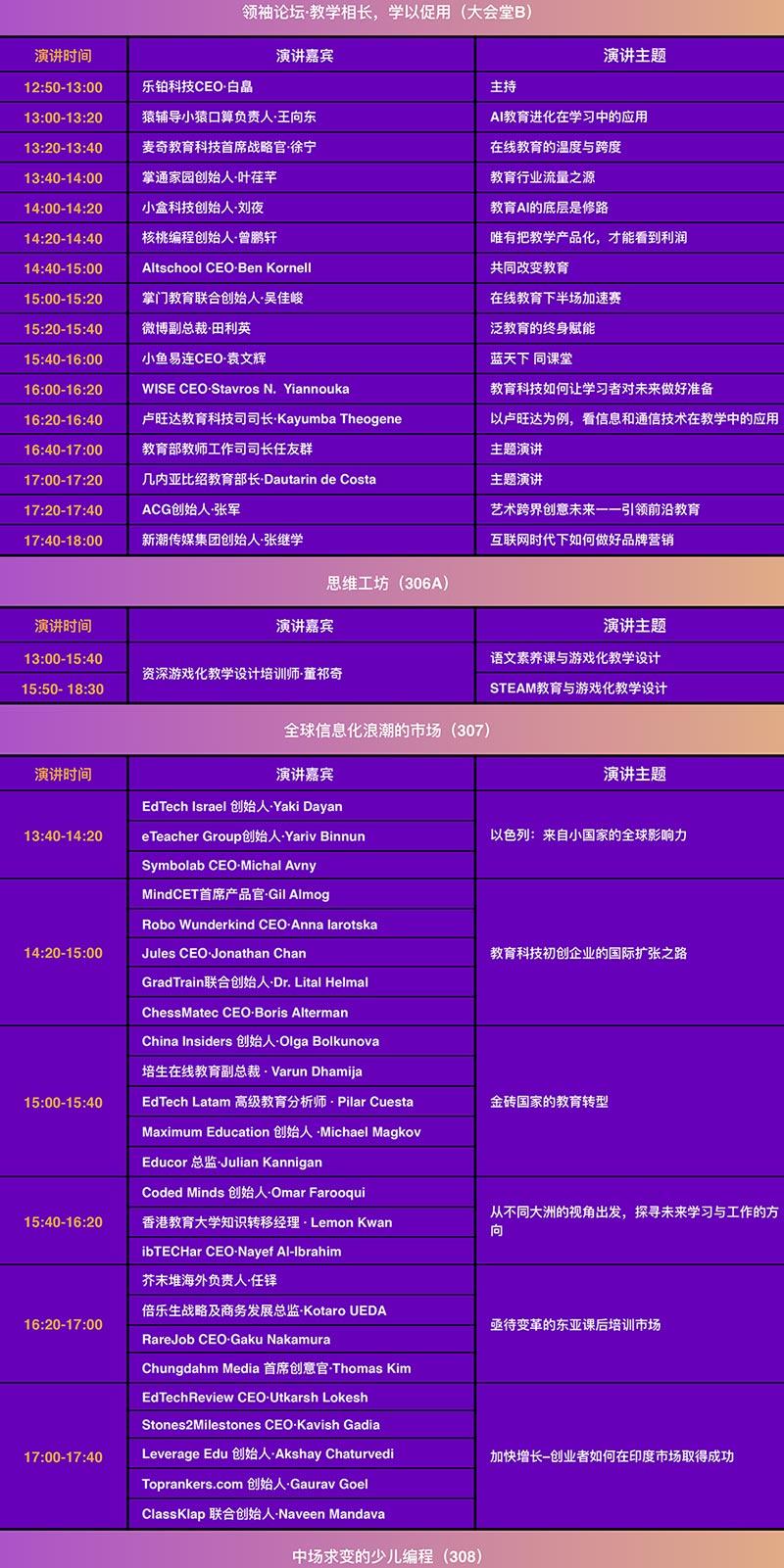 GET2019教育科技大會 教育消費博覽會 議程